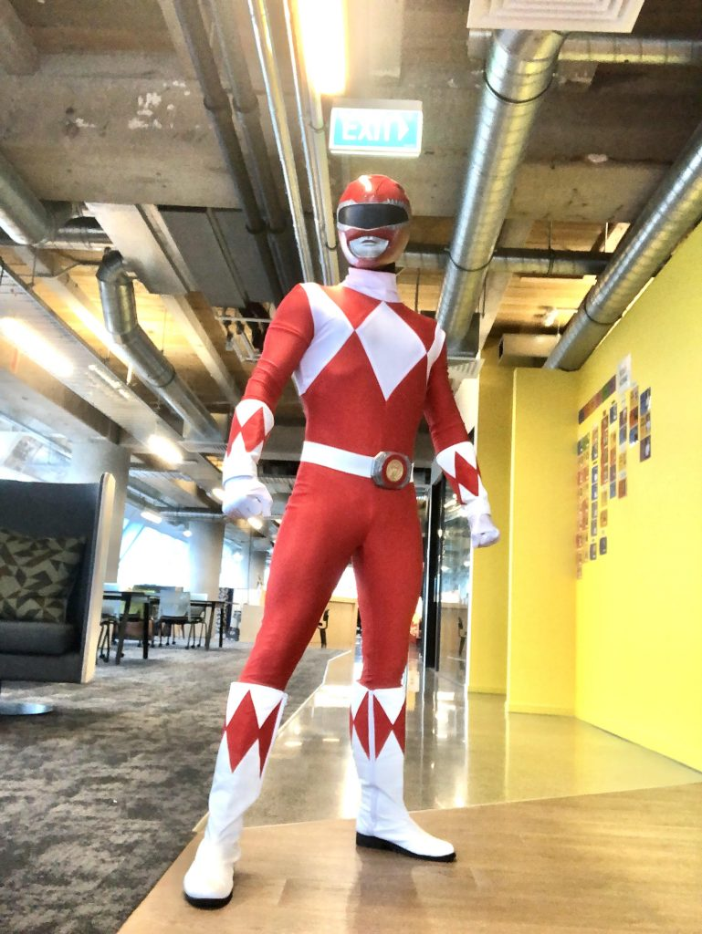Red Power Ranger Costume - SuperFun Parties